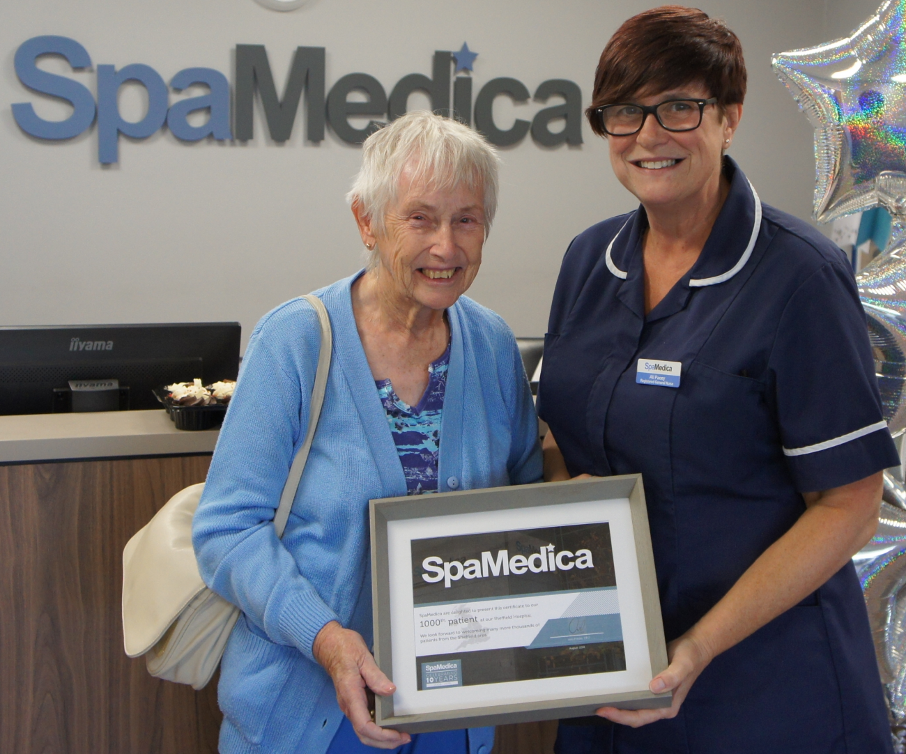 Rita and Ailson 1000th cataract patient SpaMedica Sheffield